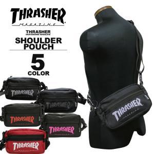 スラッシャー THRASHER ショルダーポーチ MAG LOGO SHOULDER POUCH ショルダーバック メンズ レディース 全5色|rifflepage