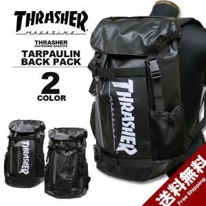 スラッシャー THRASHER カブセ リュック MAG LOGO TARPAULIN TR BACK PACK デイバック メンズ レディース バックパック ブラック rifflepage