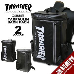 スラッシャー THRASHER トップオープン リュック MAG LOGO TARPAULIN TOP OPEN BACK PACK デイバック メンズ レディース バックパック ブラック rifflepage