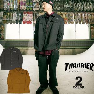 スラッシャー シャツジャケット THRASHER HOMETOWN MILITARY SHIRTS JACKET メンズ ストレッチ 全2色 M-XL(公式) rifflepage