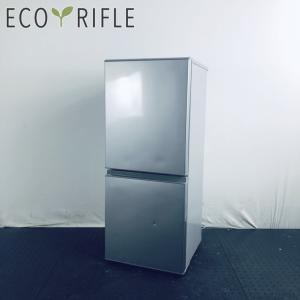 中古 冷蔵庫 2ドア アクア AQUA 2019年製 126L シルバー ファン式 右開き AQR-...