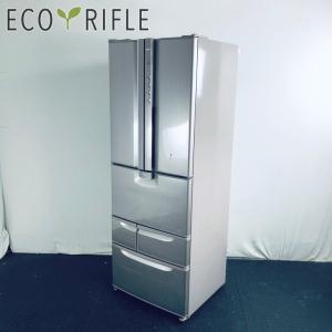 冷蔵庫 ファミリー 中古 2003年製 6ドア 日立 HITACHI 401L シルバー ファン式 ...