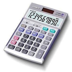 カシオ 本格実務電卓 10桁 検算機能 グリーン購入法適合 ジャストタイプ シルバー JS-10WK riftencom