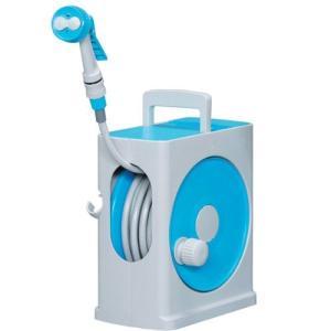 アイリスオーヤマ ホース リール フルカバーホースリールスリム 20M ライトブルー×グレー 水やり 洗車 掃除 コンパクト スリム riftencom
