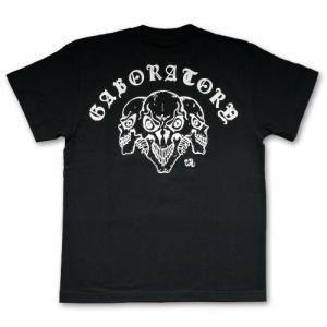 ガボラトリー/ガボール【Gaboratory】トリプルスカル Tシャツ(ブラック)|rifu