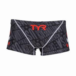 TYR メンズ水着 競泳 練習用 ショートボクサー水着 BCHEV-18M-BK|rightavail|02