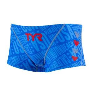 TYR メンズ ジュニア水着 競泳 練習用 ショートボクサー水着 BCHEVJR-18M-BLRD|rightavail