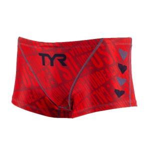 TYR メンズ ジュニア水着 競泳 練習用 ショートボクサー水着 BCHEVJR-18M-RDBK|rightavail