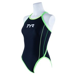 TYR レディース ジュニア水着 競泳 練習用 ワンピース水着 FSLIDJR-20S-BKLM|rightavail
