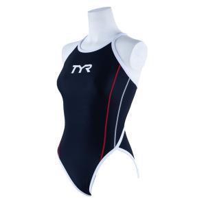 TYR レディース ジュニア水着 競泳 練習用 ワンピース水着 FSLIDJR-20S-BKRD|rightavail
