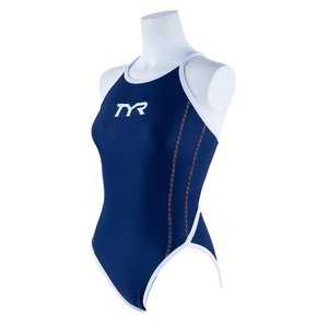 TYR レディース ジュニア水着 競泳 練習用 ワンピース水着 FSLIDJR-20S-NVRB|rightavail