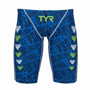 TYR メンズ水着 競泳 練習用 ロングボクサー水着 JCHEV-18M-BL|rightavail|02
