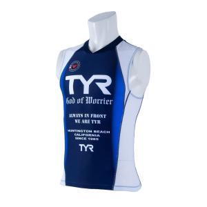 TYR(ティア) トライアスロン用 メンズトライシングレット フロントジップ TMSG1-20S-BL|rightavail