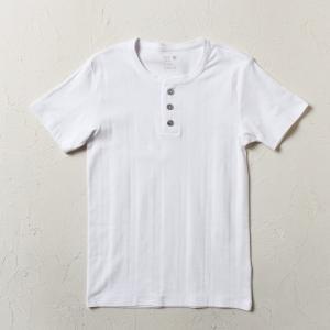 (ライトオンベーシック)Right-on Basic  ベアフライスヘンリーネックTシャツ メンズ