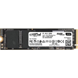 Crucial SSD M.2 500GB P1シリーズ Type2280 PCIe3.0x4 NV...