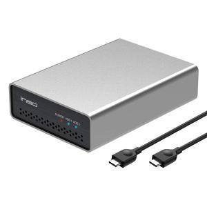 ineo USB 3.1 Gen 2 Type Cデュアルベイ2.5 SATA RAID 外付ハード...