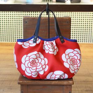 ほにや コロコロ豆バッグ イロハニホニヤ ぽんぽん菊 赤 小さな手提げ 和柄 和風 ころり 花柄|riguru-online