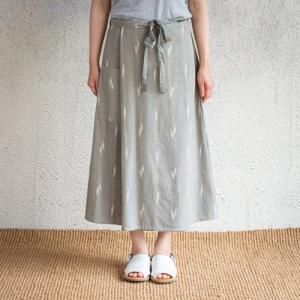 シサム工房 ikat サロンスカート フェアトレード Fairtrade エシカル 綿100% 絣|riguru-online