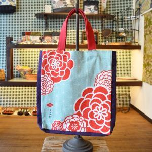 ほにや ハンプトートバッグ ぽんぽん菊 帆布バッグ honiya 花柄|riguru-online