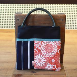 ほにや スマホバッグ ふくれ織菊赤 小さな手提げ 手提げポーチ 和柄 和風 携帯電話ケース 花柄|riguru-online