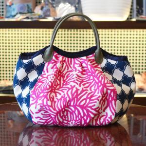 ほにや コロコロ豆バッグ ピンク糸花  菊 小さな手提げ 和柄 和風 ころり 花柄|riguru-online