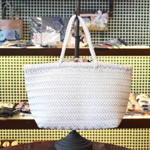 ほにや メッシュバッグ 白 巾着付 新菊丸 赤 合皮メッシュ トートバッグ 母の日 和柄|riguru-online