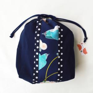 ほにや 巾着 燕 水玉 巾着 和装小物 和装 浴衣 小物入 日本製 よさこい ギフト シューズ入れ 旅行 ギフト riguru-online