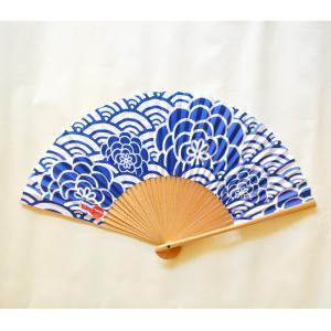 ほにや 扇子 紙扇子 青海菊花 青 赤 和モダン 着物 和装小物 ギフト よさこい HONIYA riguru-online