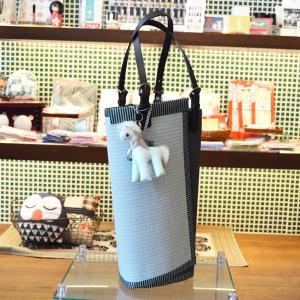 KUNIYA トートバッグ 和紙の畳と畳の縁 オリジナルバッグ 手提げ 國谷博子作 個性的 オンリーワン 不思議な形 イッシー 母の日 riguru-online