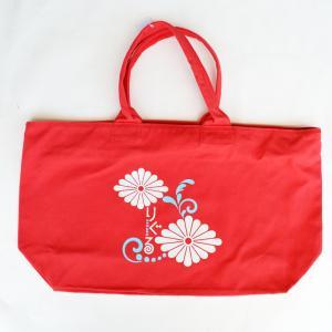 りぐるオリジナルボストンバッグ 大 キャンバスバッグ 赤 りぐるよさこい 5周年記念 夢万華鏡 RIGURU りぐる|riguru-online