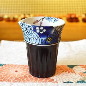 片口 花蝶 虚空蔵窯 九谷焼 陶器 こくぞうがま 花柄 手作りの器 土もの 虚空蔵山 美しい色合い やきもの 石川県能美市 とっくり riguru-online