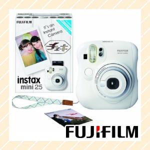 チェキ FUJIFILM インスタントカメラ ホワイト INSTAX-MINI25WTN【×メール便不可】|rijapan