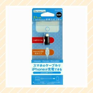 2.1A対応 Lightning(ライトニング) 変換アダプター ブラック 【○メール便可】 SN-ADP01BK|rijapan