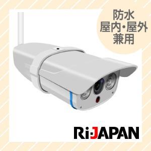 防犯カメラ 防塵・防水仕様 屋内・屋外兼用 ワイヤレス対応 多彩な機能のメガピクセル IPネットワークカメラ RCC-7100WP|rijapan