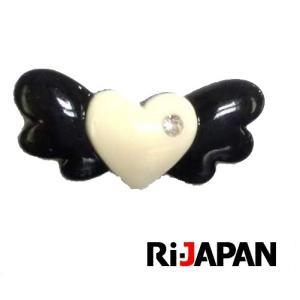 イヤホンジャック専用アクセサリー ハートモチーフ ブラック RIPP-001BK RiJAPAN メール便可 ポスト投函|rijapan
