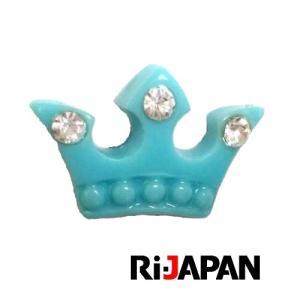 イヤホンジャック専用アクセサリー ブルー クラウン RIPP-002BL RiJAPAN メール便可 ポスト投函|rijapan