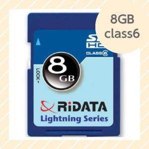 ライテック製 RiDATA SDHCカード 8GB class6 【○メール便可】 SDHC8GB class6|rijapan