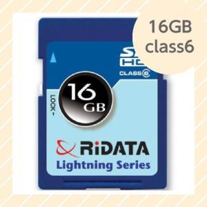 ライテック製 RiDATA SDHCカード 16GB class6 【○メール便可】 SDHC16GB.class6|rijapan