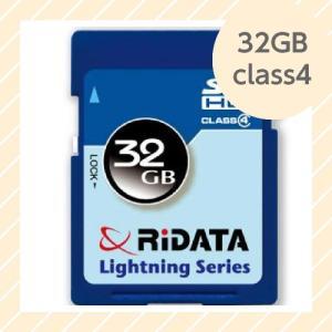 ライテック製 RiDATA SDHCカード 32GB class4 【○メール便可】 SDHC32GB class4|rijapan