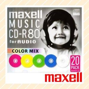 maxell マクセル 音楽用CD-R 5mmスリムケース入り 20枚パック CDRA80MIX.S1P20S【×メール便不可】|rijapan