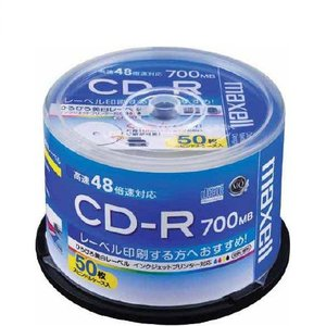 CD-R データ用 50枚スピンドルケース入り 700MB 48倍速対応 CDR700S.WP.50SP maxell マクセル|rijapan