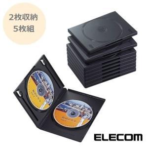 DVDトールケース 2枚収納 5枚組 ブラック[CCD-DVD05-BK]【×メール便不可】|rijapan
