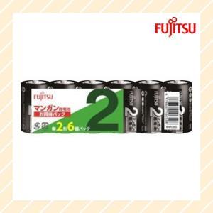 マンガン乾電池 単2形 6本 R14PU 6S 富士通 FDK rijapan