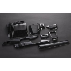 200系ハイエース1/2型ワイドボディ ブラックウッド調(黒木目)インテリアパネル 8PCS-SET (セール品につき返品不可商品)|rim