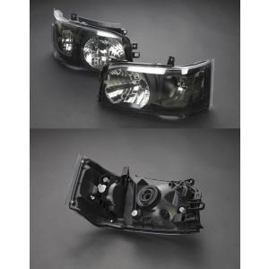 200系 ハイエース 2/4WD用 1型2型専用DEPO製ヘッドライトAssy 艶消BK 純正レベライザー移植 ●水漏れ、レンズ内曇りは保障対象外品です|rim