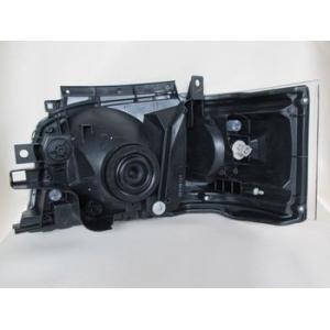 200系 ハイエース 2/4WD用 1型2型専用DEPO製ヘッドライトAssy 艶消BK 純正レベライザー移植 ●水漏れ、レンズ内曇りは保障対象外品です|rim|03