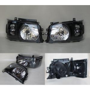 200系 ハイエース 2/4WD用 1型2型専用DEPO製ヘッドライトAssy 艶消BK 純正レベライザー移植 ●水漏れ、レンズ内曇りは保障対象外品です|rim|04