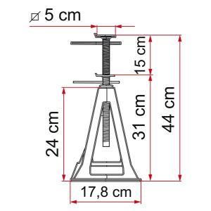 FIAMMA耐震ジャッキ【プラスティック製】耐荷重750Kg<br>【1SET4本】|rim|02