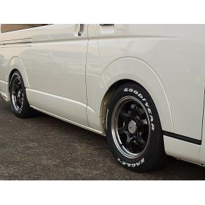200系 ハイエース(標準/ワイド)2/4WD用Grand-conceptionローフォールムフェンダープロテクター純正近似色塗装済み、カラー選択必要送料込価格代引注文不可 rim 03
