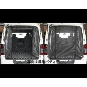 リムコーポレーション NV350キャラバン 2/4WD用  ワイドボディハイルーフ   Rim 防虫ネット  バックドア    Wファスナー|rim